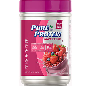 Super Food Plant-Based Protein Powder - Mixed Berry Super Fruits, (1.47 lb. Canister)