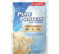 Whey Powder Single Serving Packet - Vanilla [ppr-553900.jpg] - Click for More Information