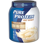 100% Whey Protein - Vanilla Cream (1.75 lb. Canister) - Click for more information or to buy now.