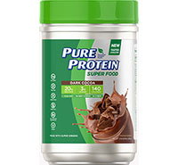 Super Food Plant-Based Protein Powder - Dark Cocoa (1.51 lb. Canister) - Click for more information or to buy now.