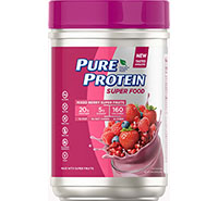 Super Food Plant-Based Protein Powder - Mixed Berry Super Fruits, (1.47 lb. Canister) - Click for more information or to buy now.